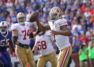 Colin Kaepernick T-Shirts Sold at 49ers' 45-16 Loss to Bills Week 6