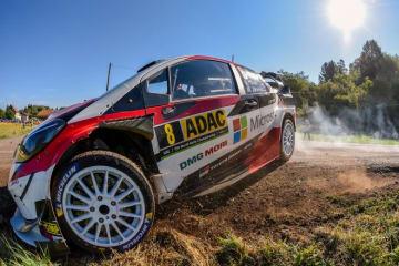 WRCドイチェランド:トヨタのタナクが2日目も首位快走。王者オジエに12.3秒リード築く