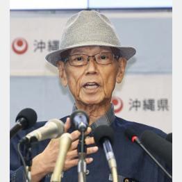 膵臓がんで亡くなった翁長雄志知事(C)共同通信社