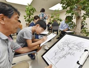 「点描画」制作...心静かに没頭 倉本聰の仕事と点描画展で講座