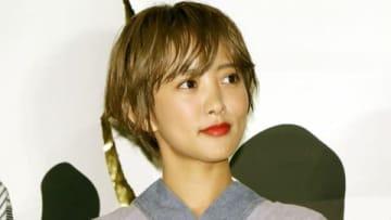 映画「銀魂2 掟は破るためにこそある」の完成披露試写会に登場した夏菜さん