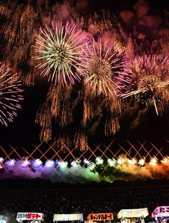 空に光の大輪−赤川花火大会