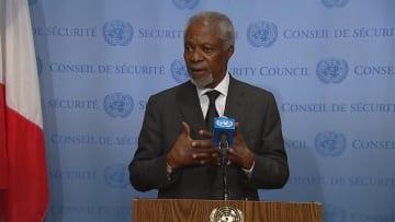 アナン元国連事務総長が死去 80歳 2001年にノーベル平和賞