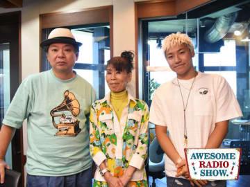 映画パーソナリティ・襟川クロさん(中央)とパーソナリティの鈴木おさむ(左)と小森隼