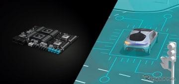 NVIDIA「DRIVE」プラットフォームと自動運転車のイメージ