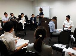 7月に初めて開催されたセミナーの様子=大阪市内(喜田さん提供)