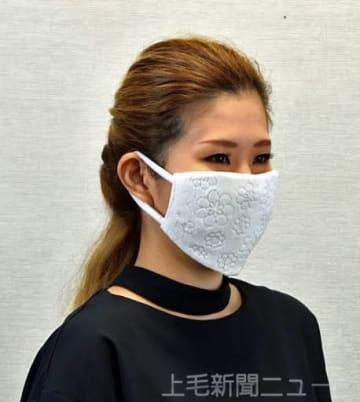 夏場の需要開拓を目指し開発した冷感マスク