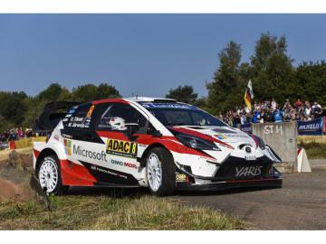 WRC第9戦ラリー・ドイツで優勝したTOYOTA GAZOO Racing World Rally Teamのオット・タナック/マルティン・ヤルヴェオヤ組のヤリスWRC 8号車