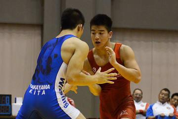 上級生を相手に堂々とした闘いぶりを見せた西田衛人