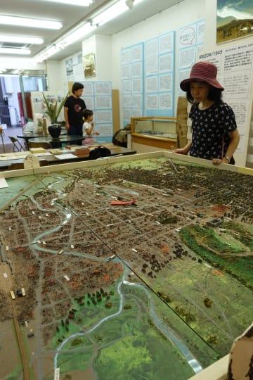 大型ジオラマが展示された宇都宮空襲展