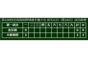 初回、大阪桐蔭がいきなり3点先制