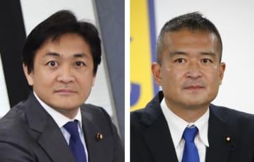 国民民主党の玉木雄一郎共同代表、津村啓介元内閣府政務官