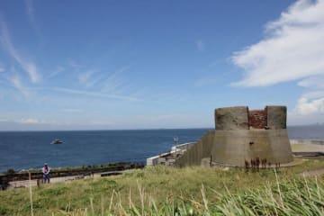 第二海堡に現存する観測台