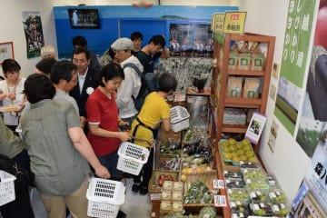 2016年8月にオープンした福井県坂井市のアンテナショップ=東京都品川区の戸越銀座商店街