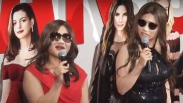 米映画「オーシャンズ8」のヒット御礼イベントに登場した「ガンバレルーヤ」
