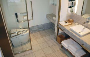 Barrier-free bathroom at Tokyo hotel