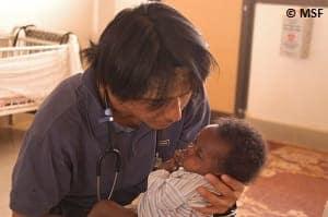 2003年、初の赴任地となったスーダンにて
