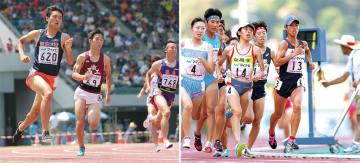 初のインハイを楽しんだ石川君(左)/ダブル入賞の吉村さん(中央) =三重交通Gスポーツの杜伊勢