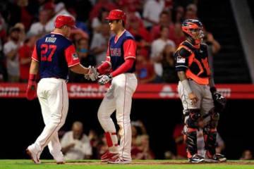 第2打席に本塁打を放ったエンゼルス・大谷翔平【写真:Getty Images】