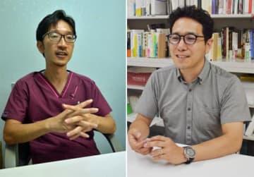 (左から)反対の立場をとる長島さん、賛成の立場をとる鈴木さん