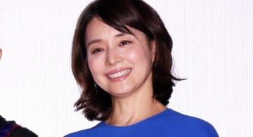 映画「コーヒーが冷めないうちに」の完成披露試写会に登場した石田ゆり子さん