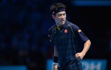 全米オープンテニスに出場する錦織圭選手 AFP/アフロ