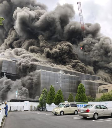 Fire at construction site in Tokyo suburbs