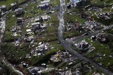 大型ハリケーン「マリア」に襲われた米自治領プエルトリコの被災地域=2017年9月28日(AP=共同)