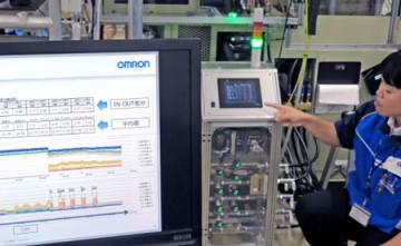 水の流量や油圧の数値を基に設備の異常を検知するシステム。IoTの活用で原因の把握に役立てている