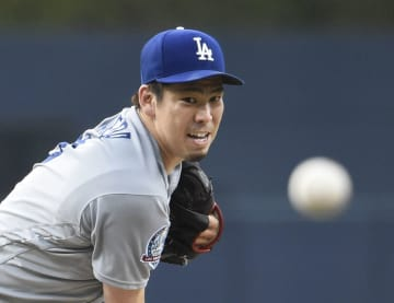 Baseball: Dodgers' Maeda, 2018071200898