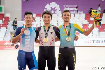 自転車トラック競技・男子オムニアム表彰式