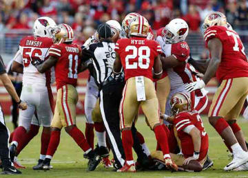 49ers & Cardinals start fight in Week 9 game
