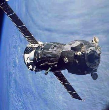 ロシアのソユーズ宇宙船(米航空宇宙局提供)