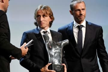 UEFA最優秀選手賞に輝いたモドリッチ photo/Getty Images