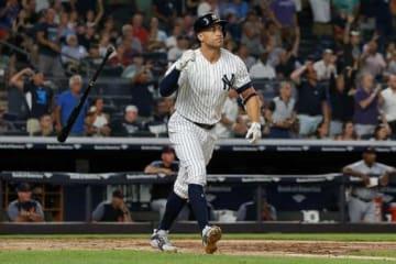 通算300号となる本塁打を放ったヤンキース・スタントン【写真:Getty Images】