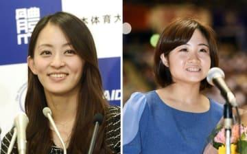 元五輪代表選手の田中理恵さん(左)、鶴見虹子さん(右)