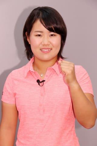 LPGA女子ゴルフツアー「エビアン・チャンピオンシップ」の会見に登場した畑岡奈紗選手