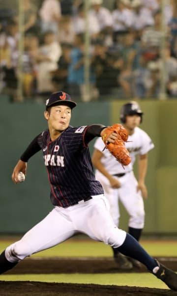9回から登板し、最速149キロをマークした日本代表の吉田