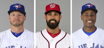 ドナルドソン内野手、ゴンザレス投手、グランダーソン外野手(いずれもゲッティ=共同)