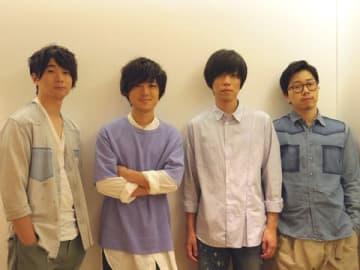 連続ドラマ「グッド・ドクター」の主題歌「Hikari」について語ったandropの(左から)佐藤拓也さん、伊藤彬彦さん、内澤崇仁さん、前田恭介さん