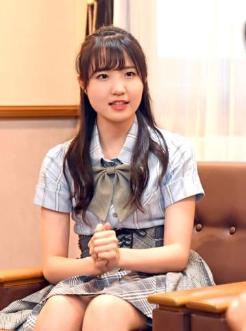 世界デビューするユニットのメンバーに選ばれたAKB48の本田仁美さん=7月、下野新聞社