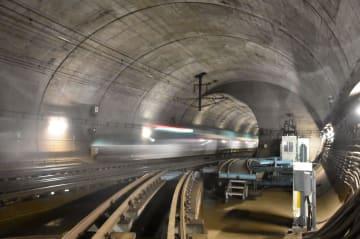 Bullet train in Seikan Tunnel