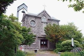 バチラー夫妻の功績を伝えている記念教会堂