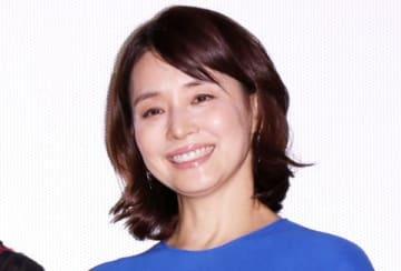 映画「コーヒーが冷めないうちに」の完成披露試写会に出席した石田ゆり子さん