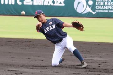 侍ジャパンU-18代表・奈良間大己【写真:福谷佑介】