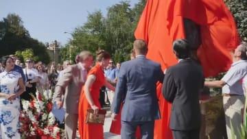 【字幕あり】ウクライナの首都キエフで孔子像の除幕式
