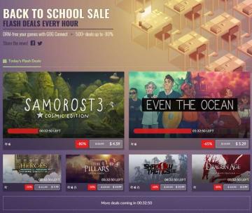 """GOG.comにて""""Back to School Sale""""開催中!―1時間ごとにラインナップが入れ替え"""