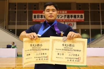 明大選手として10年ぶりに優勝、グレコローマンでも銀メダルの二ノ宮寛斗