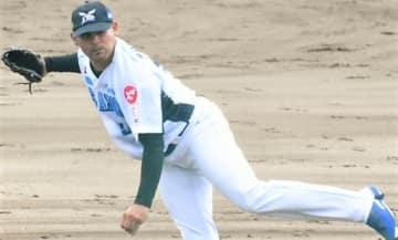 福島―群馬 1失点完投でリーグトップの15勝目を挙げた群馬の先発トーレス=福島・西会津球場