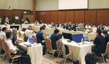 開幕した中西部太平洋まぐろ類委員会の北小委員会=4日午前、福岡市